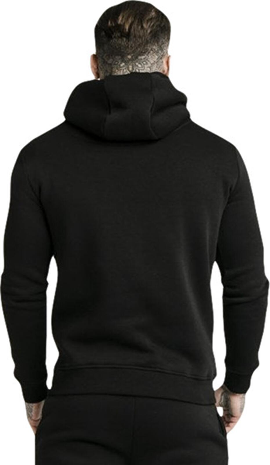 Sik Silk Muscle Fit Hoodie Black