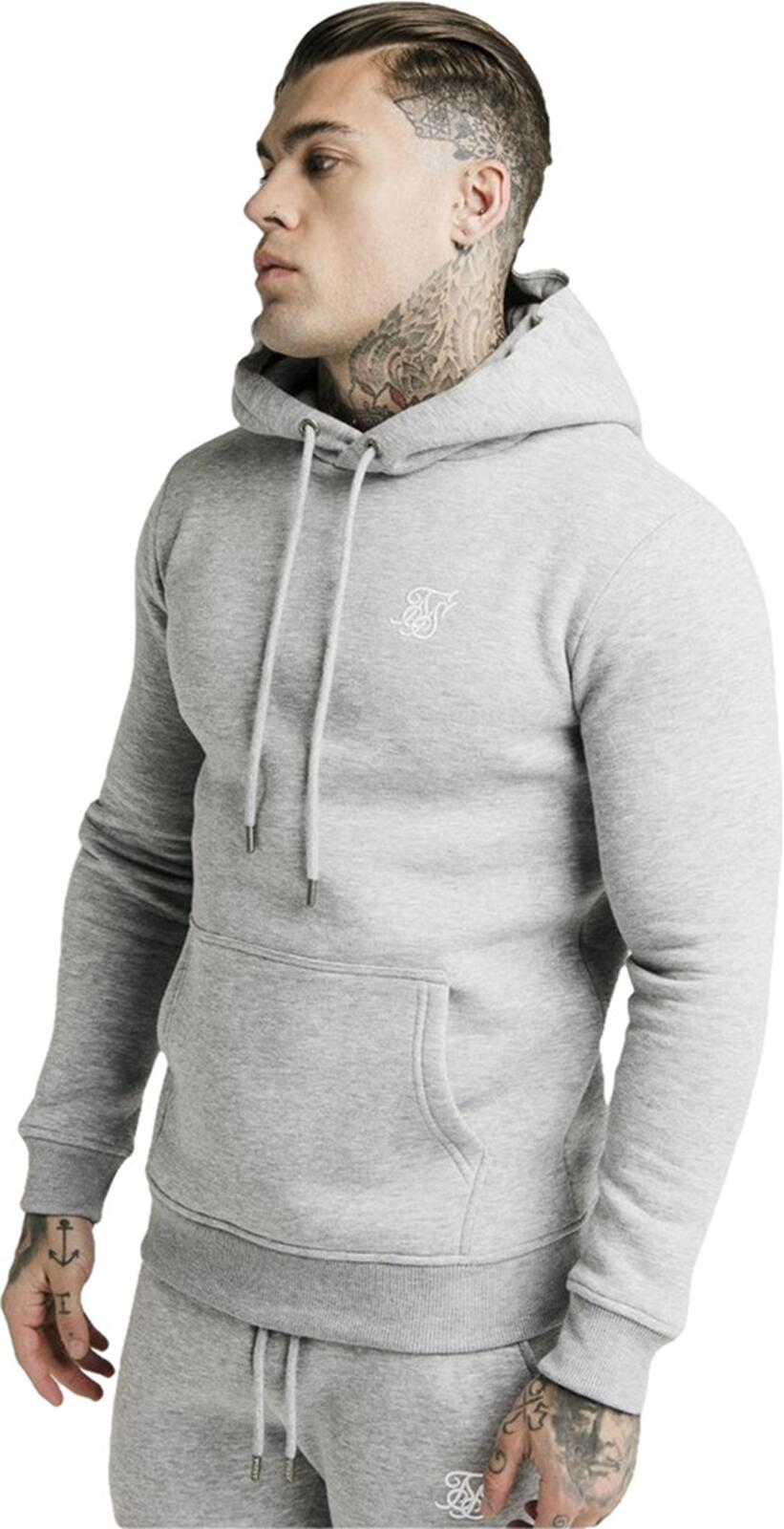 Sik Silk Muscle Fit Hoodie Grey