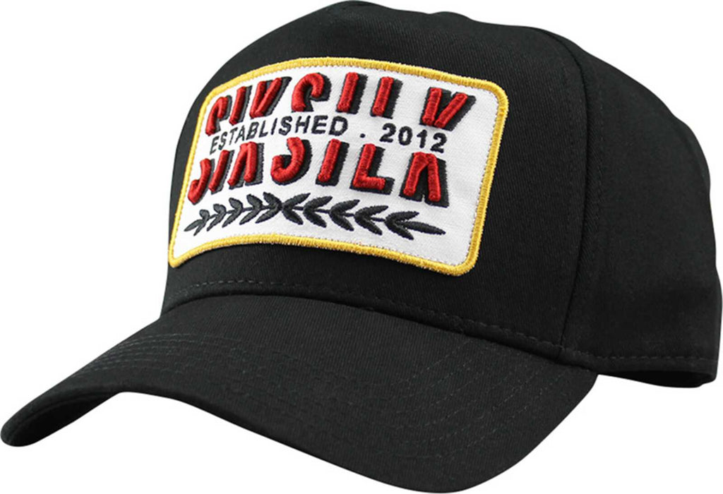 Sik Silk Patch Trucker Baseball Cap	Black
