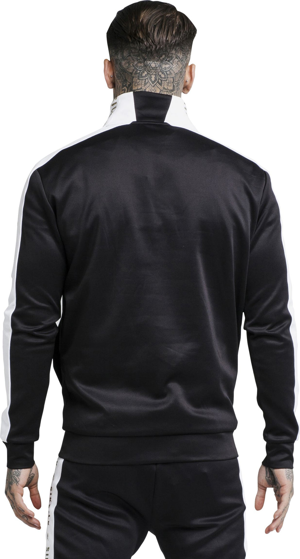 Sik Silk Racer Tape Track Top Black
