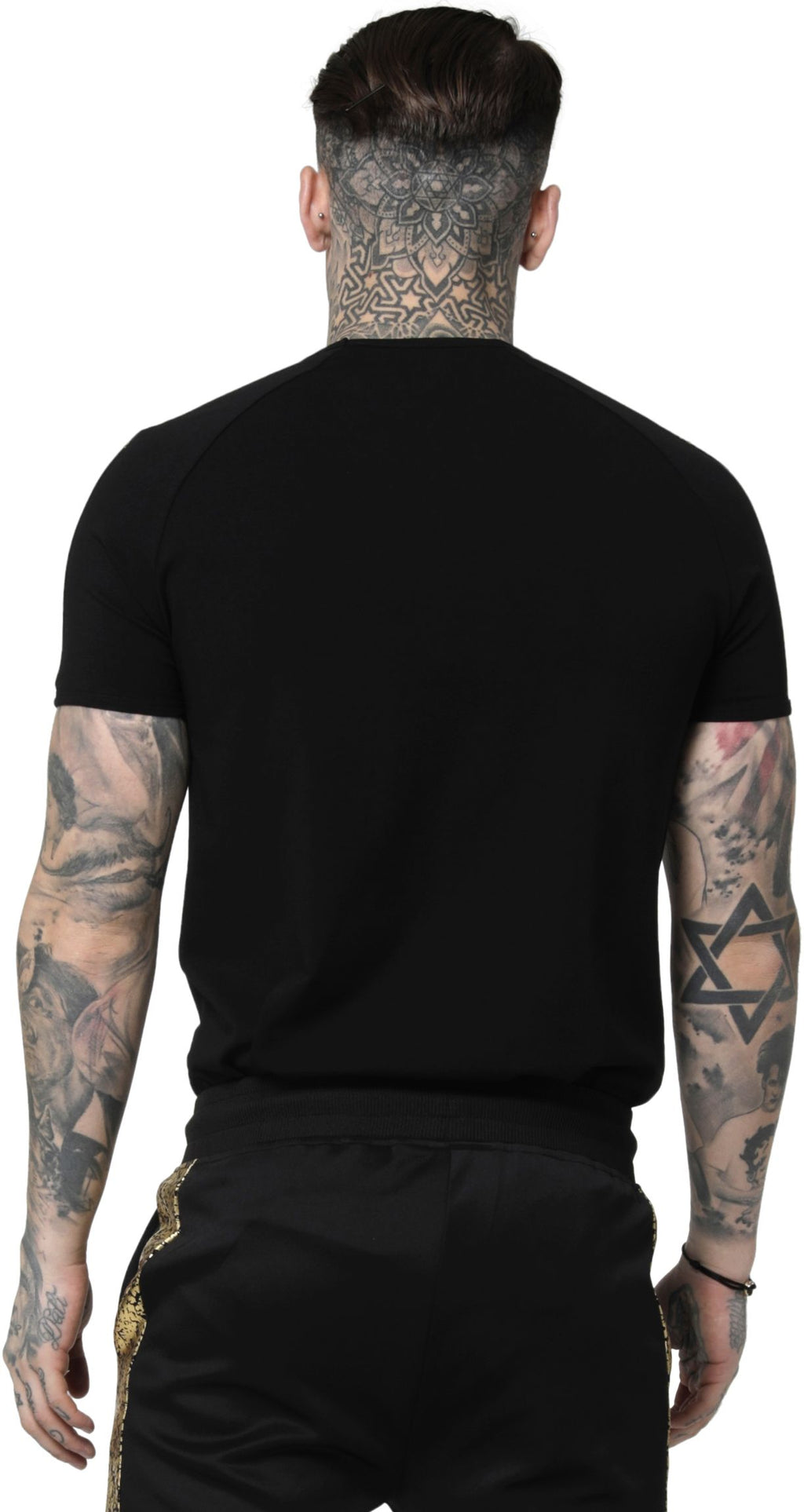 Sik-Silk-Raglan-Foil-Fade-Gym-T-Shirt-Black