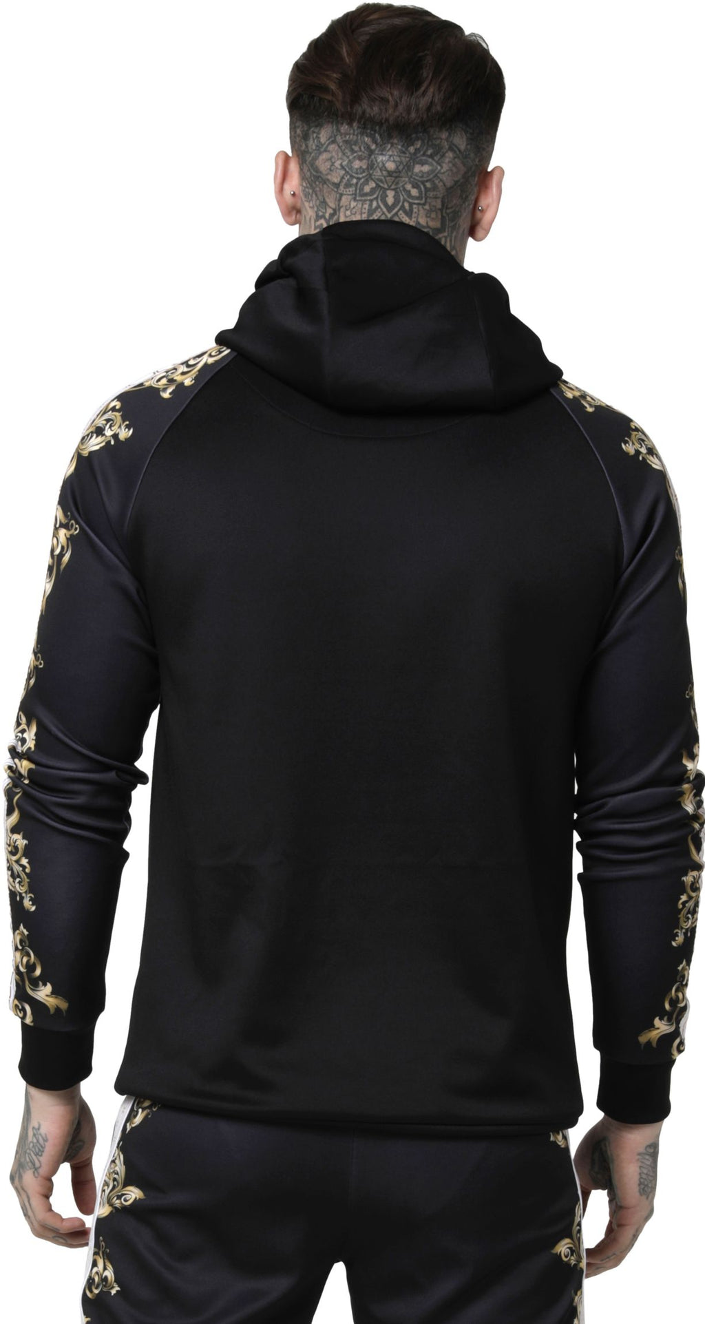 Sik Silk Raglan Muscle Fit Hoodie Black