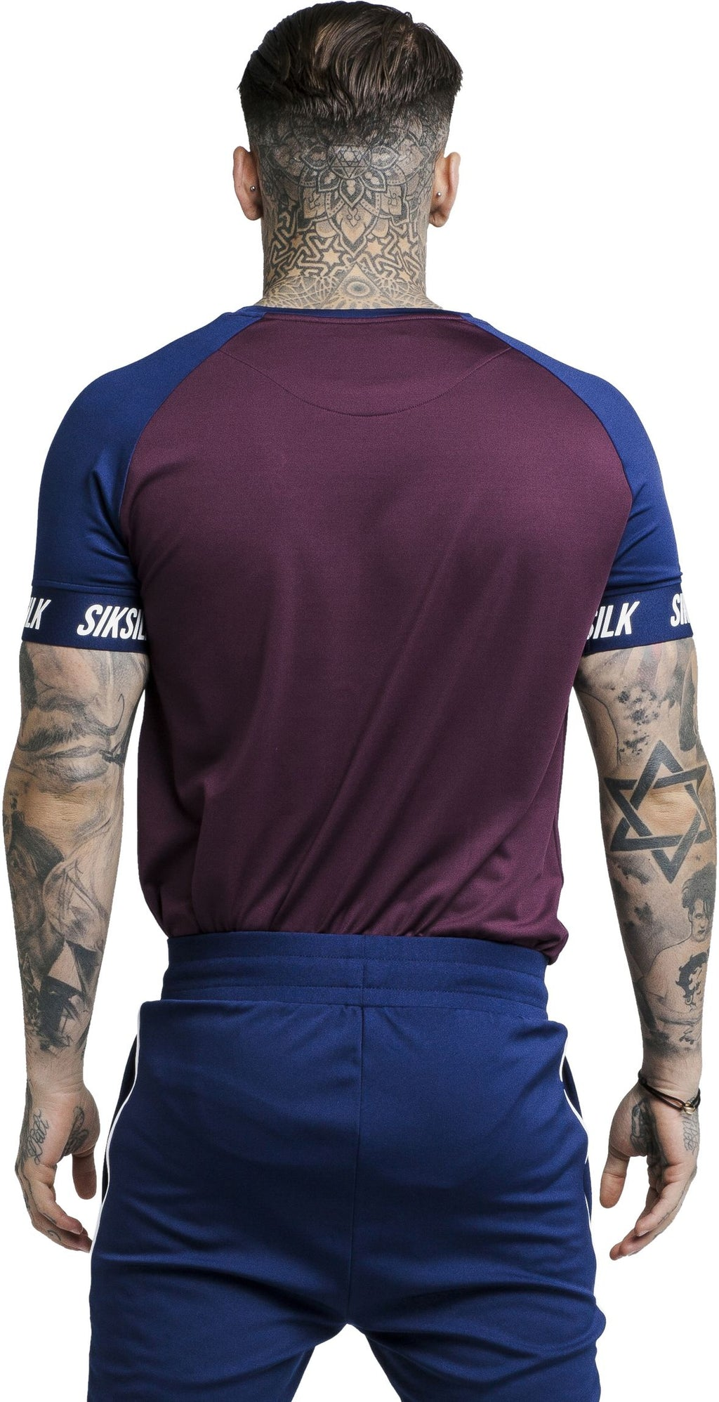 Sik Silk Raglan Tech T-Shirt Burgundy