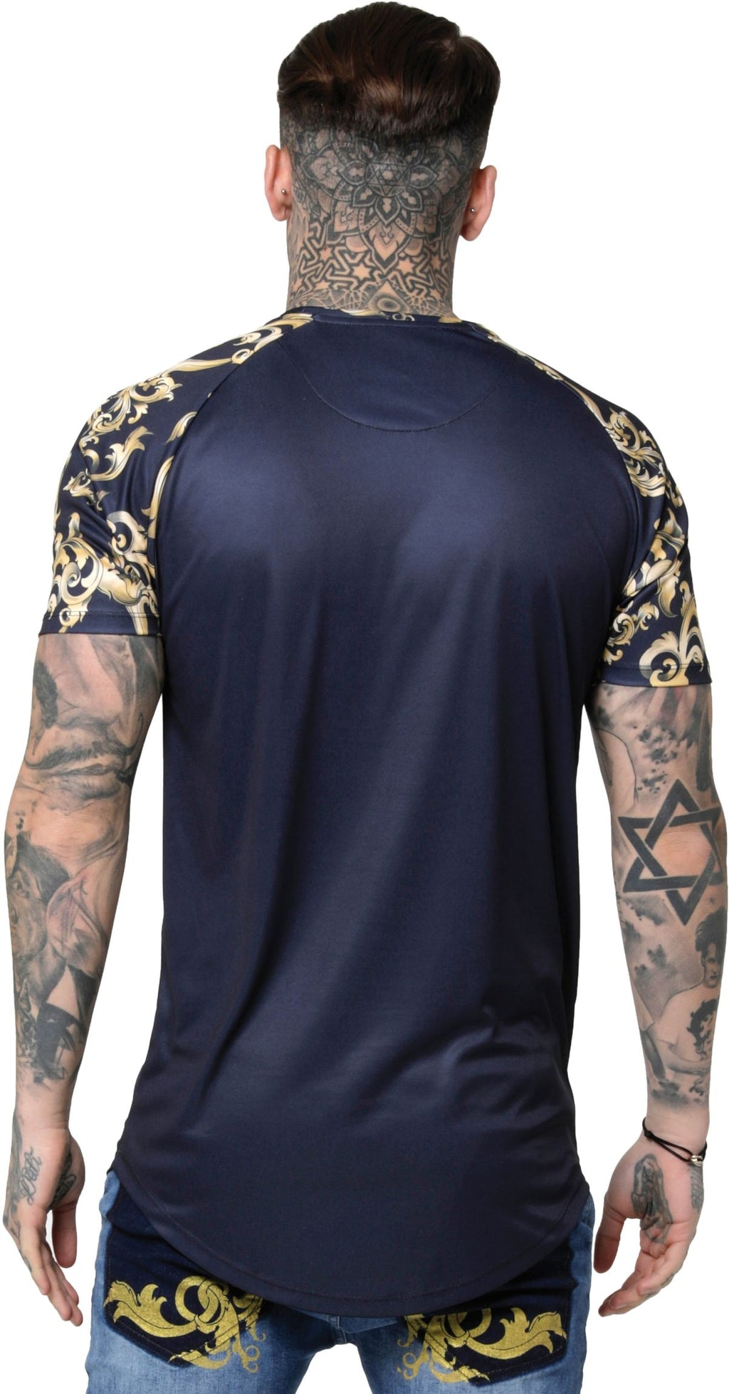 Sik Silk Royal Venetian Raglan Gym T-Shirt Navy