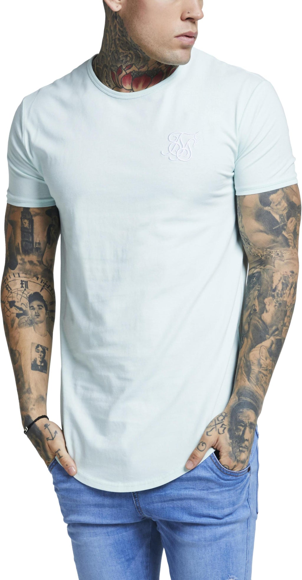 Sik Silk Short Sleeve Gym T-Shirt Mint
