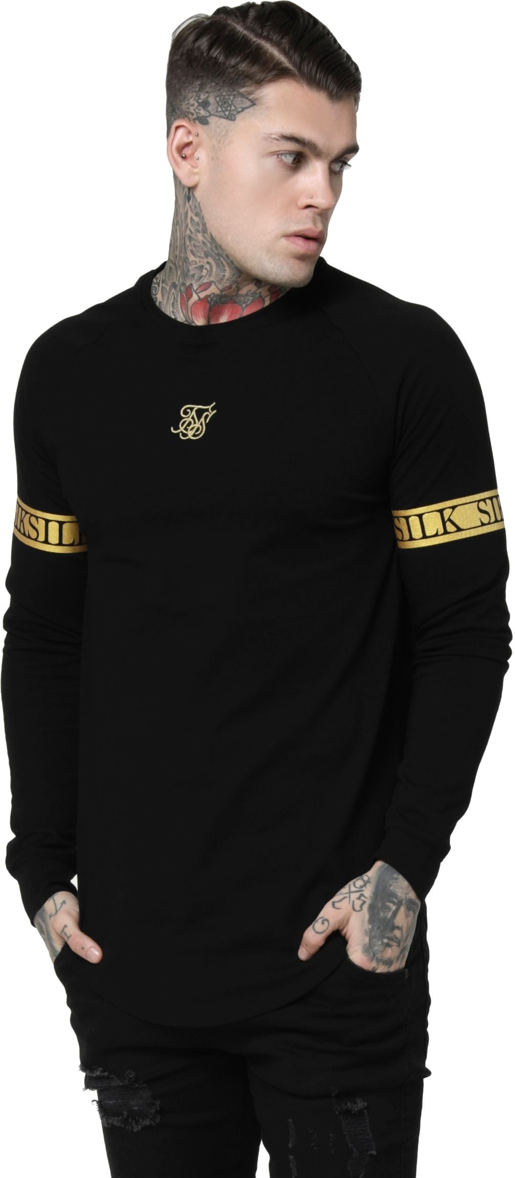 Sik Silk Tech Long Sleeve T-Shirt Black