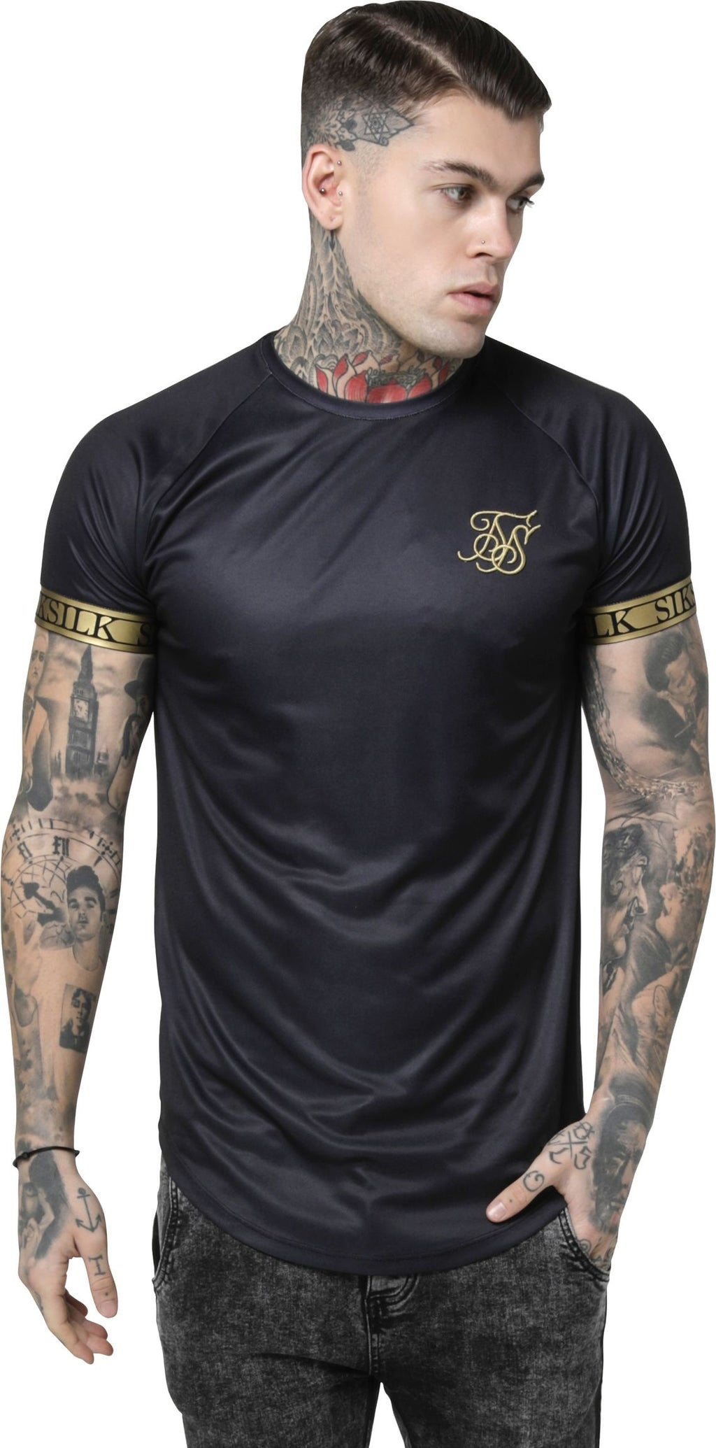 Sik Silk Tech T-Shirt Black