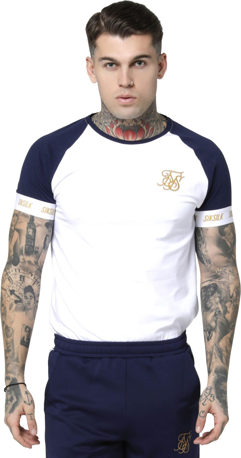 Sik Silk Tech T-Shirt Navy