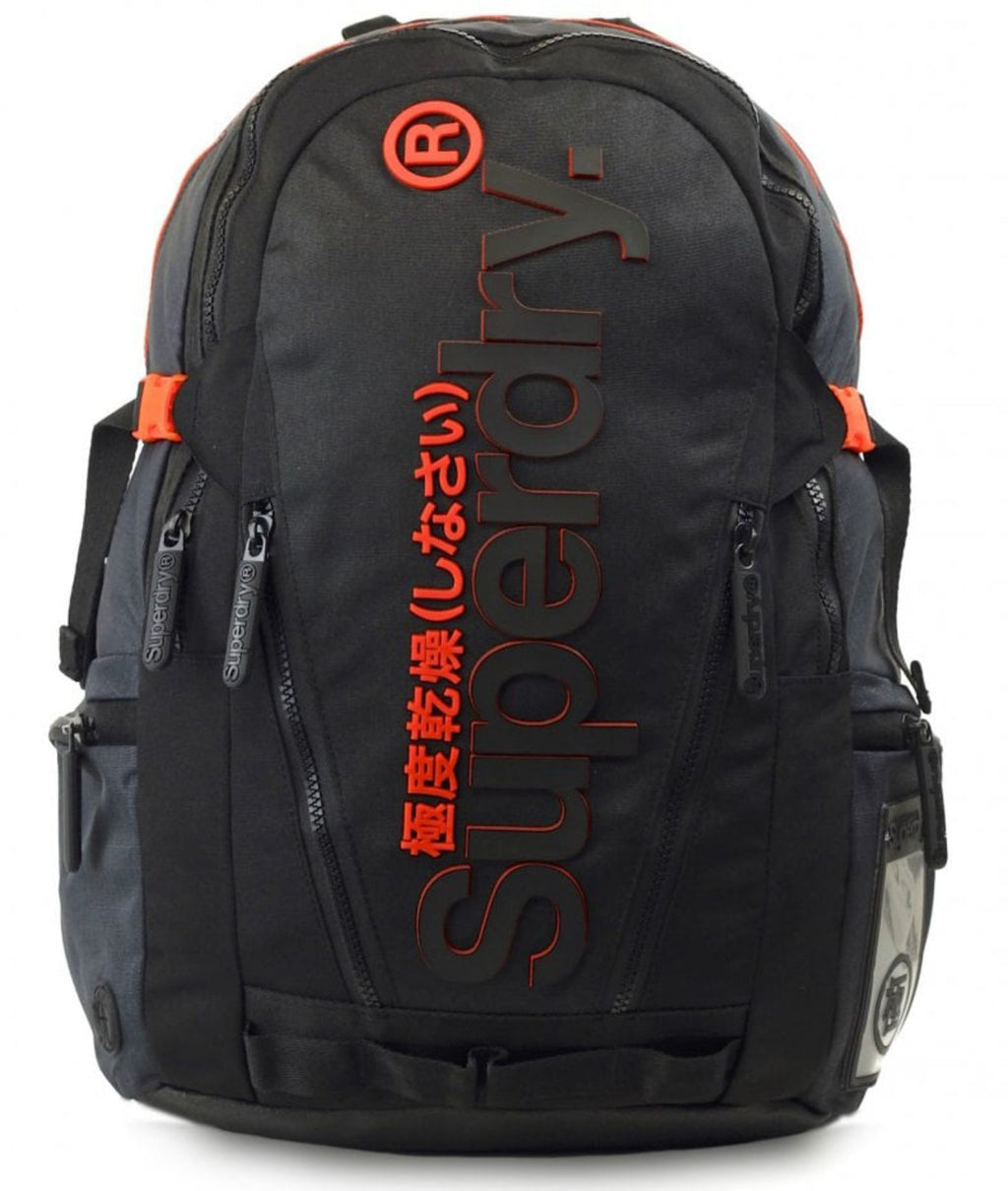 Superdry 2 Tone Tarp Backpack Bag Black