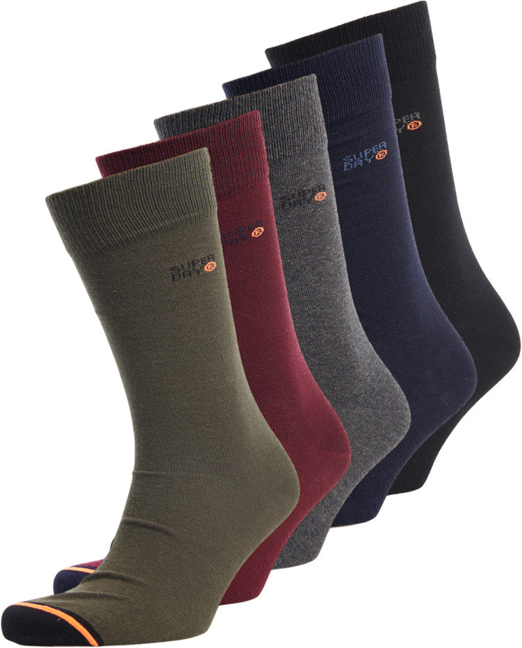 Superdry 5 Pack Socks Black