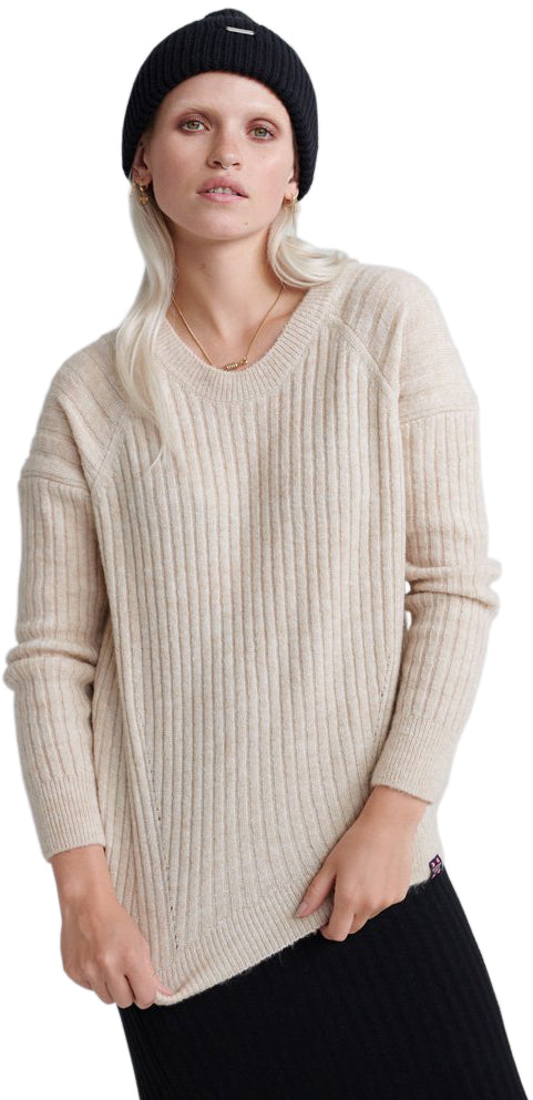 Superdry-Aimee-Ribbed-Knit-Jumper-Grey