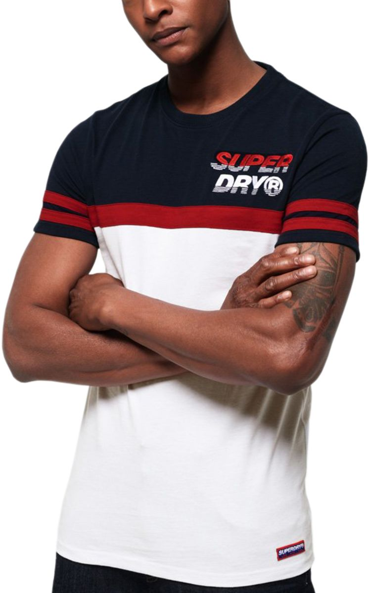 Superdry Applique Nu Lad Cut & Sew T-Shirt Blue