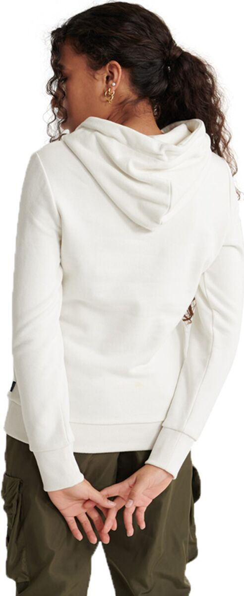 Superdry Applique Serif Hoodie Off-White