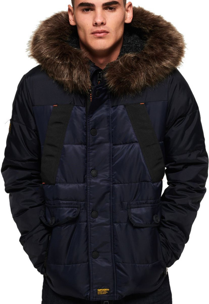 Superdry Chinook Hooded Puffer Jacket Navy