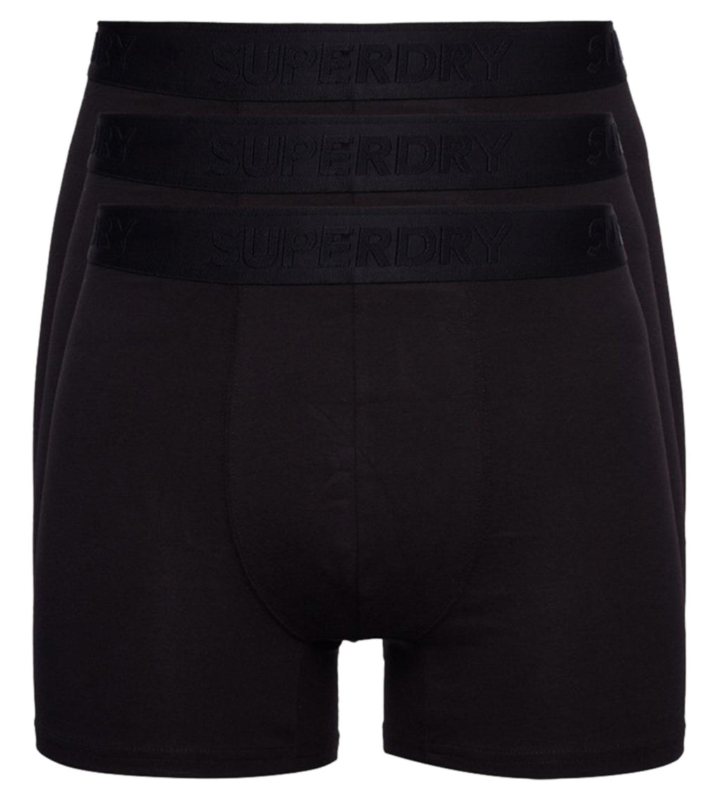 Superdry Classic 3 Pack Boxer Shorts Black