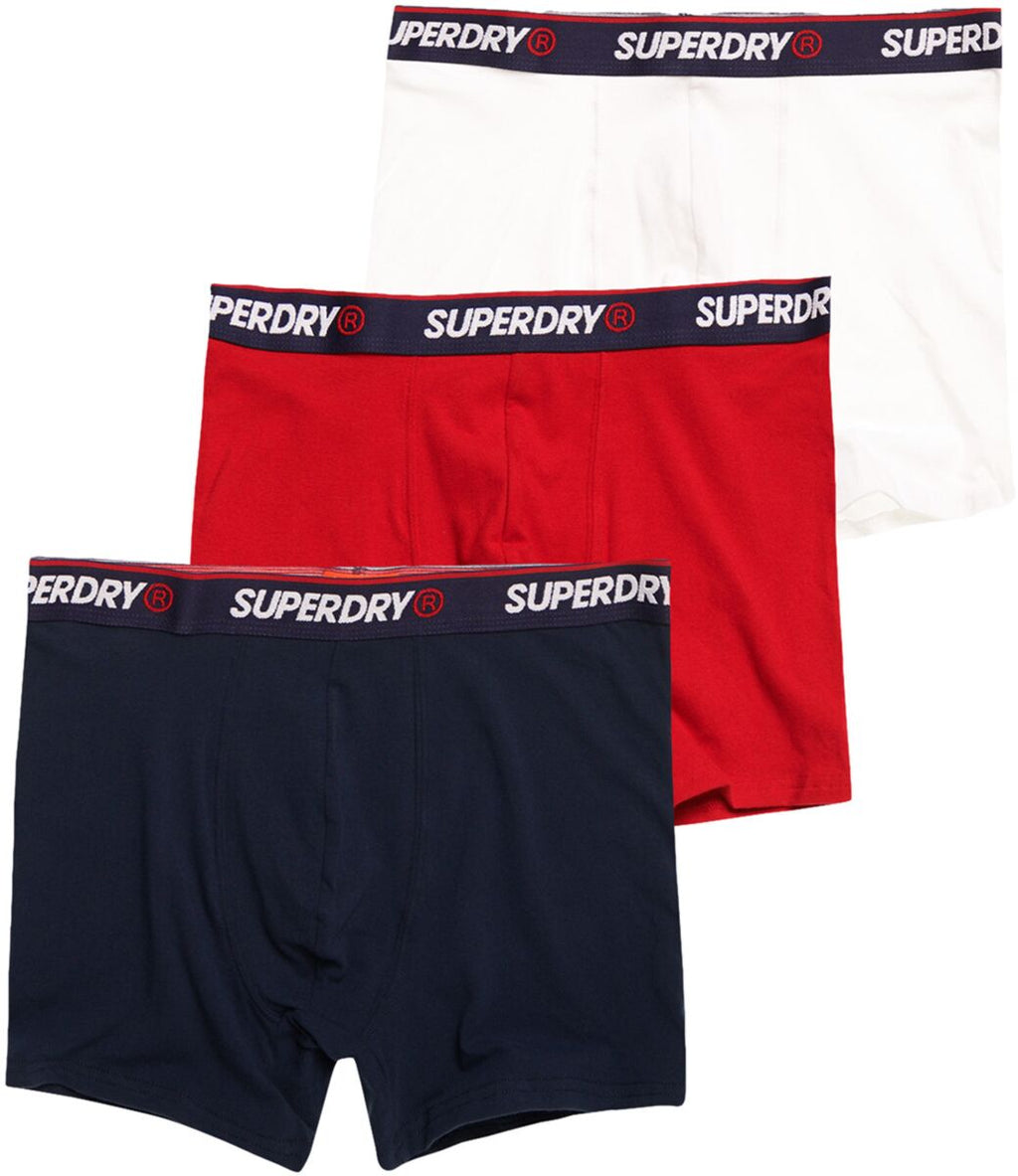 Superdry Classic 3 Pack Trunk Boxer Shorts Multi