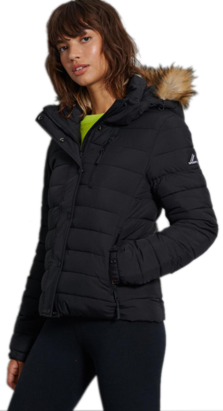 Superdry Classic Faux Fur Fuji Jacket Black