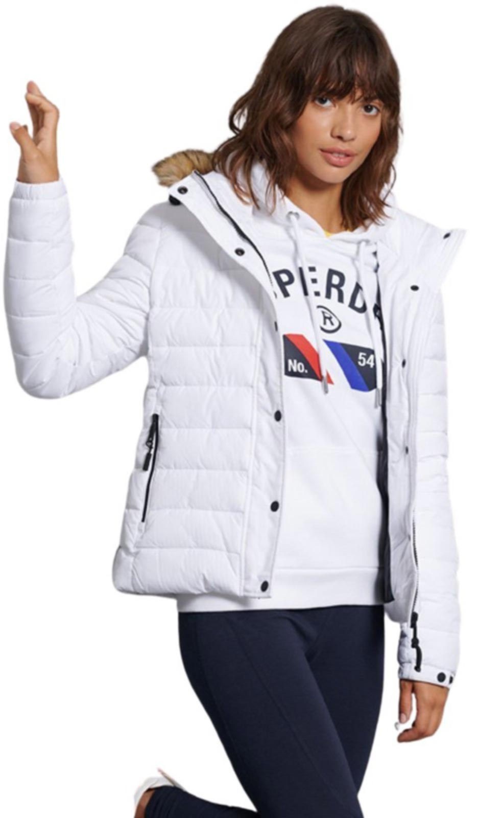 Superdry Classic Faux Fur Fuji Jacket	White