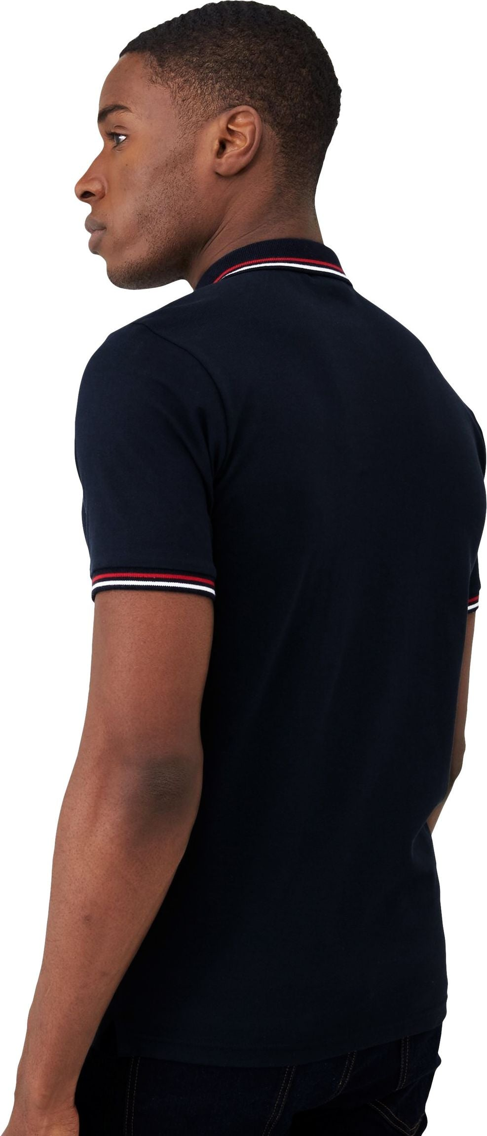 Superdry Classic Micro Lite Tipped Short Sleeve Polo Shirt Blue