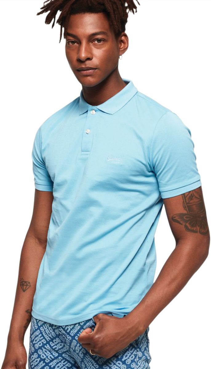 Superdry Classic Micro Pique Polo Shirt Blue