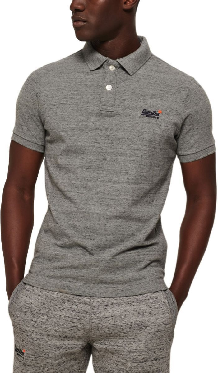 Superdry Classic Pique Polo Shirt Grey