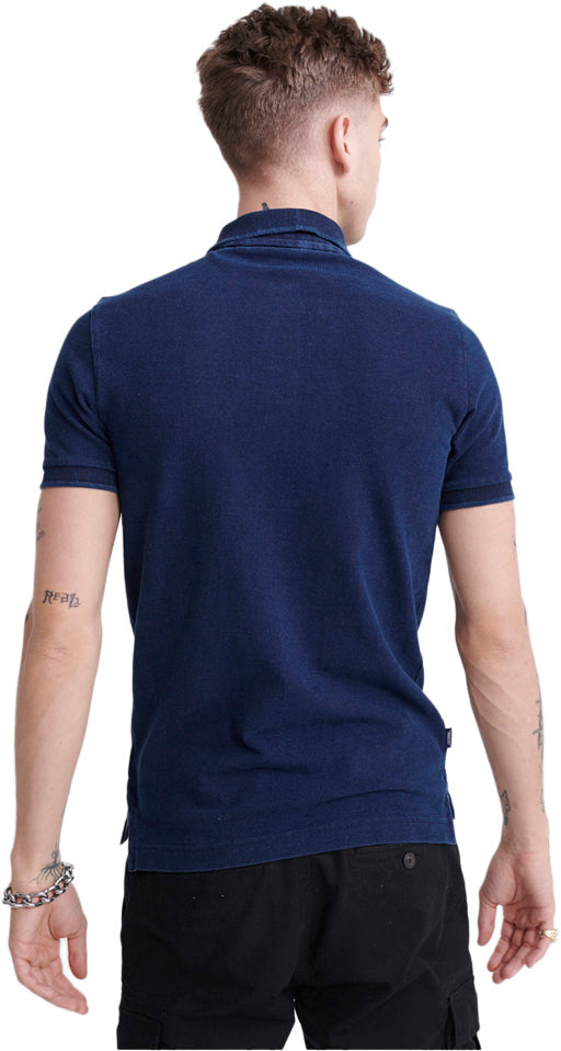 Superdry Classic Pique Polo Shirt Blue