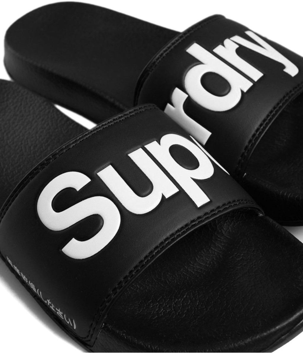 Superdry Classic Pool Sliders Black