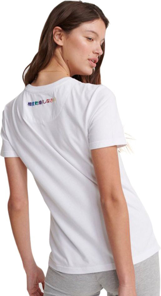 Superdry Classic Rainbow Embroidered T-Shirt White