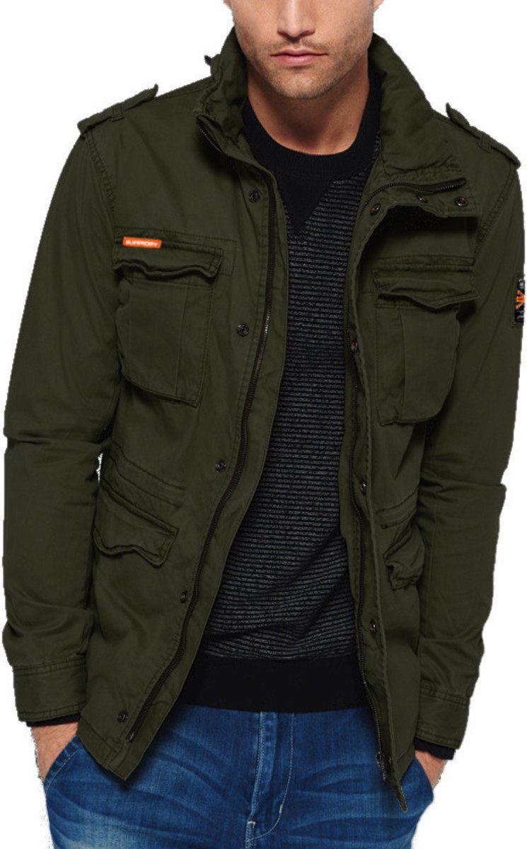 Superdry Classic Rookie Military Jacket Khaki