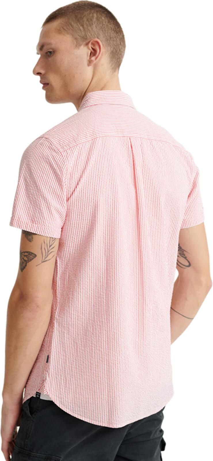 Superdry Classic Seersucker Shirt	Coral Stripe