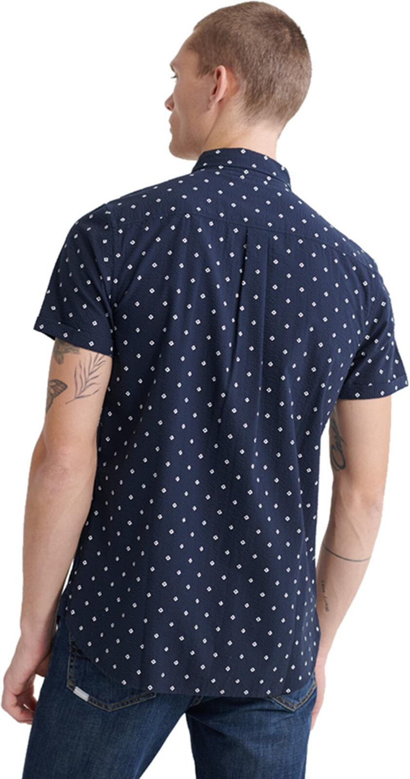Superdry Classic Seersucker Shirt Navy