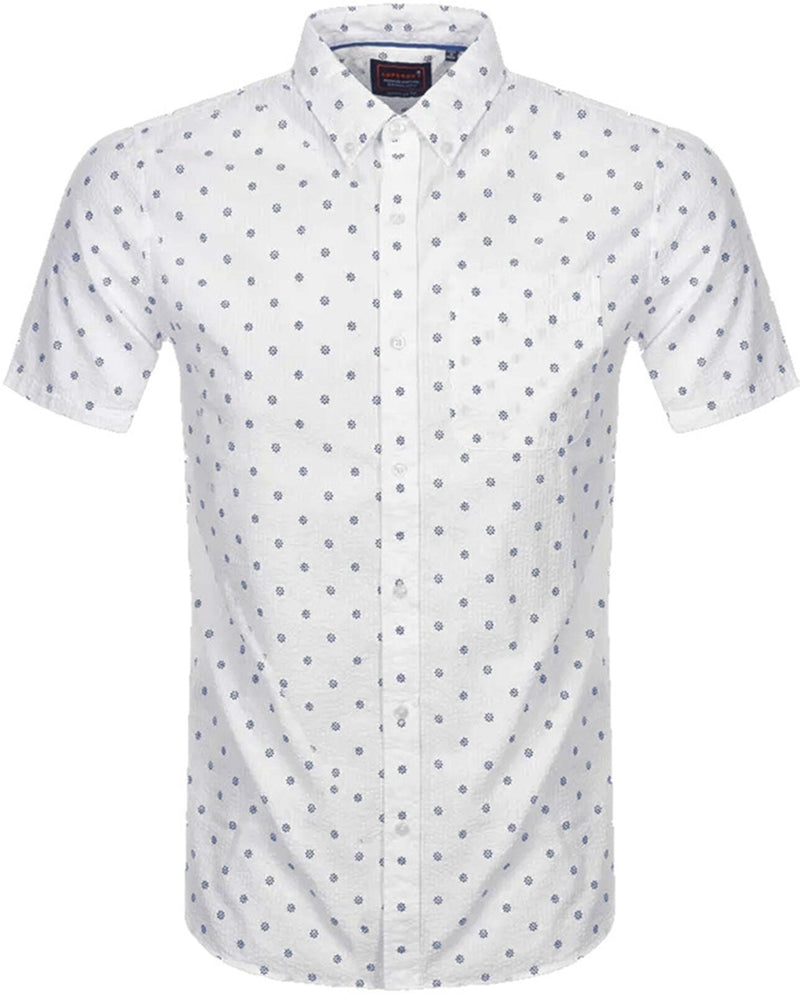 Superdry Classic Seersucker Shirt	White AOP