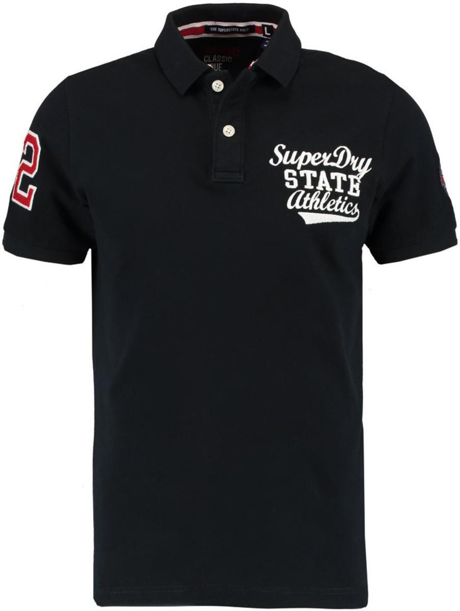 Superdry Classic Superstate Short Sleeve Polo Shirt Navy