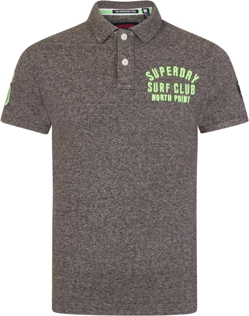 Superdry Classic Superstate Short Sleeve Polo Shirt Grey