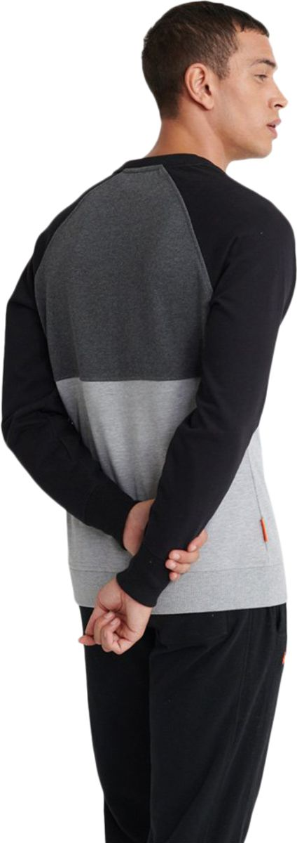 Superdry Collective Colour Block Sweatshirt Charcoal
