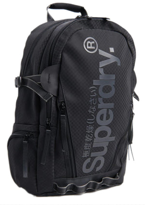 Superdry Combray Tarp Backpack Bag Black