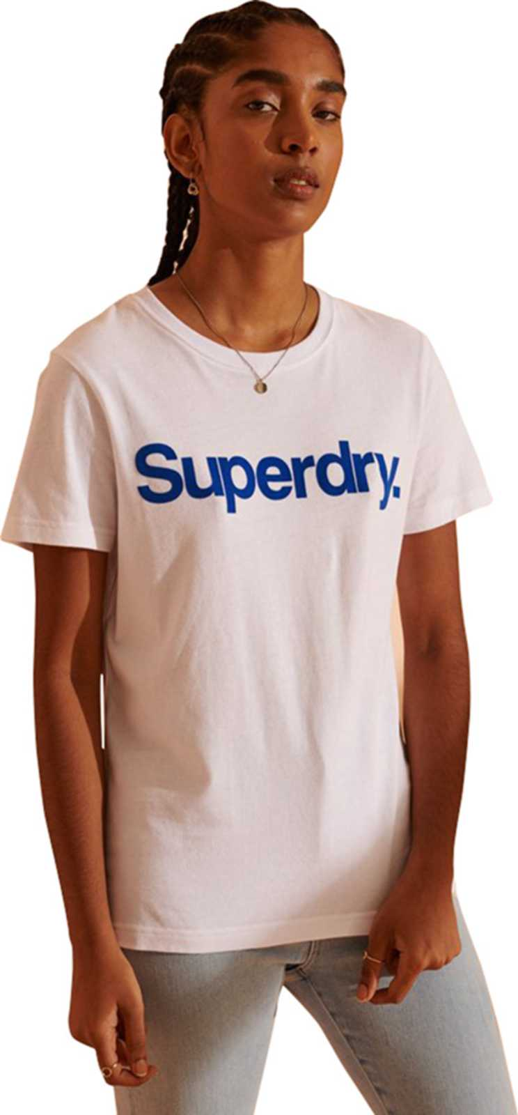Superdry Core Logo Flock T-Shirt	Optic