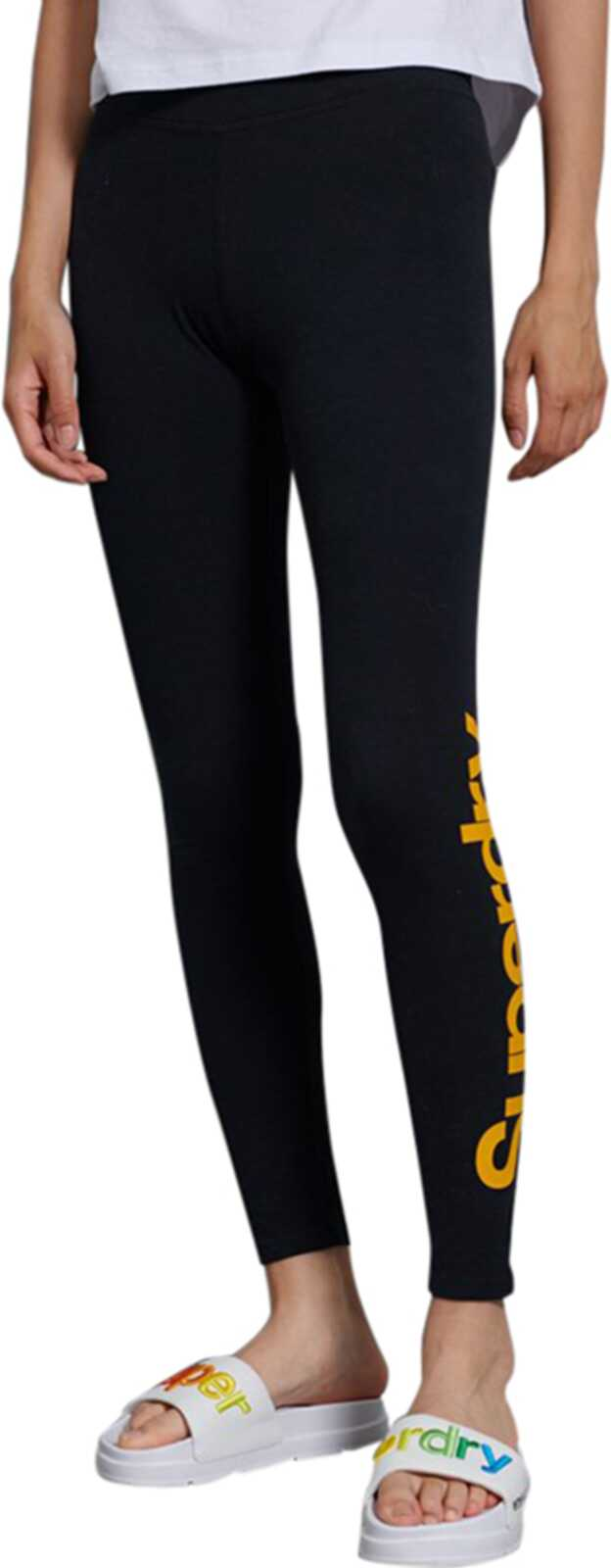 Superdry Core Logo Graphic Leggings Black