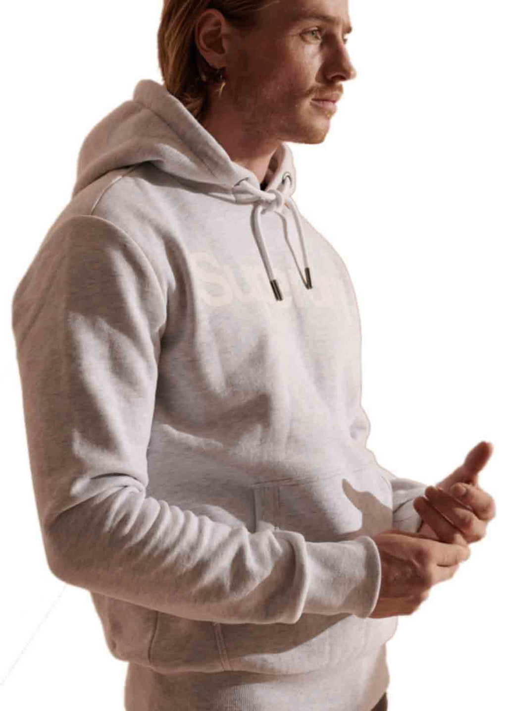 Superdry Core Logo Hoodie Off-White