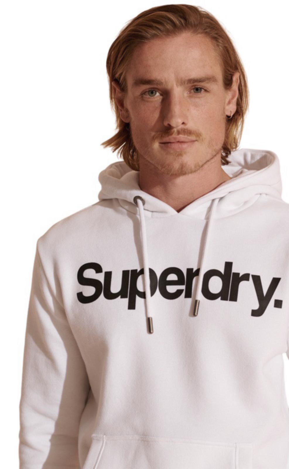 Superdry Core Logo Hoodie White
