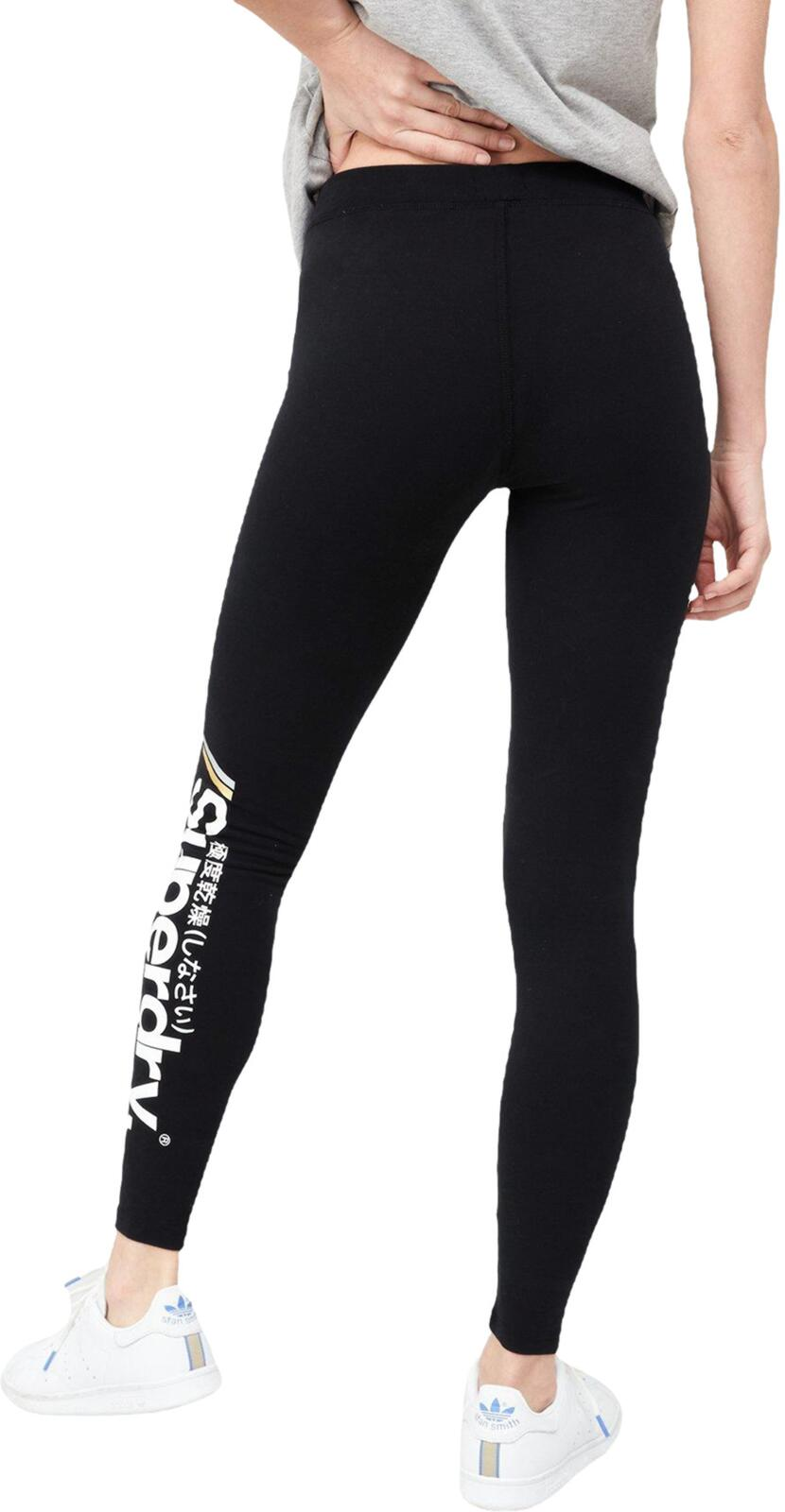 Superdry Core Logo Leggings	Black