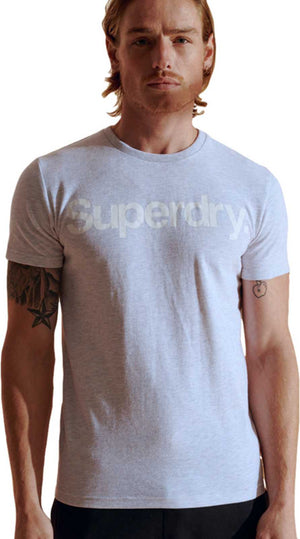 Superdry Core Logo T-Shirt Light Grey
