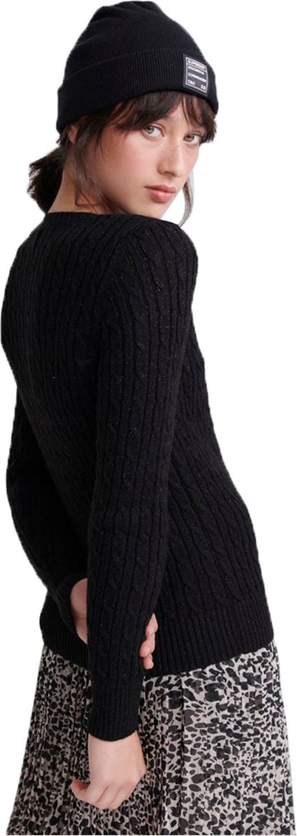 Superdry Croyde Cable Knit Jumper Black
