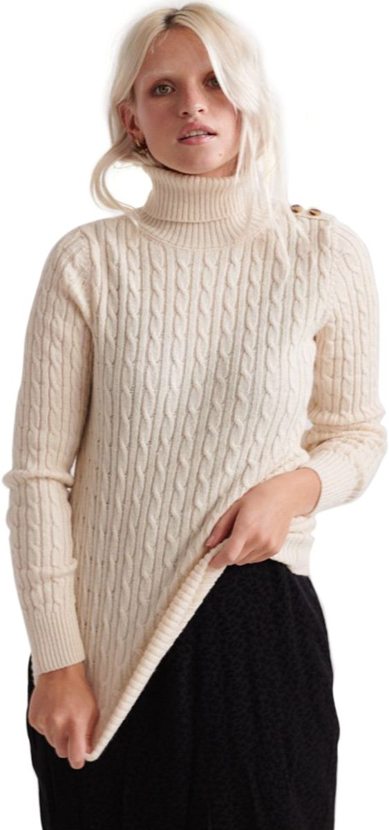 Superdry-Croyde-Cable-Roll-Neck-Knit-Jumper-Beige