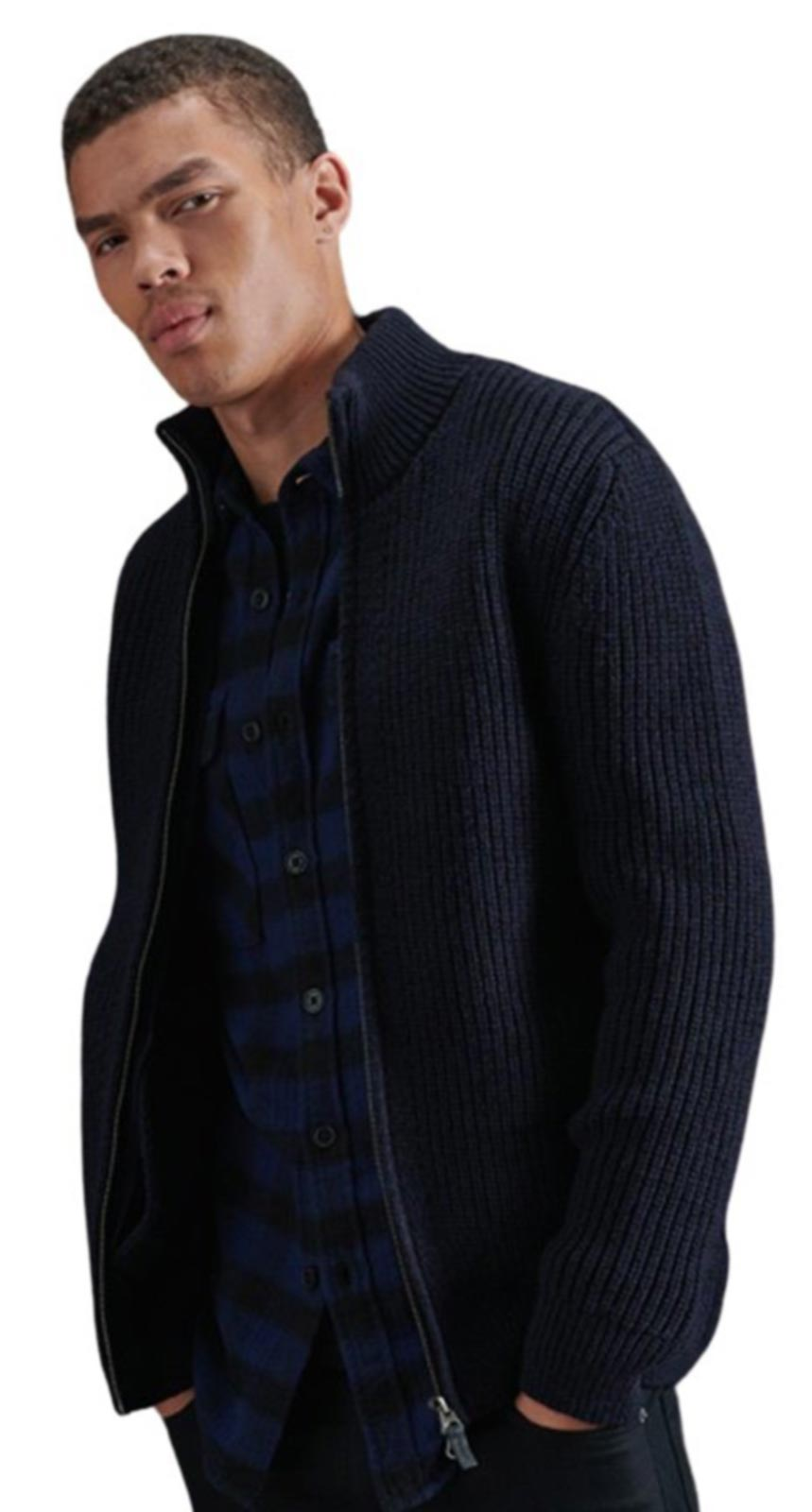 Superdry Downhill Zip Through Cardigan Navy