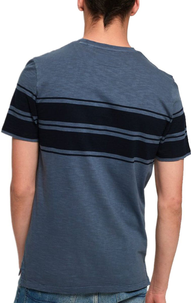 Superdry Dry Originals Stripe Pocket T-Shirt Blue