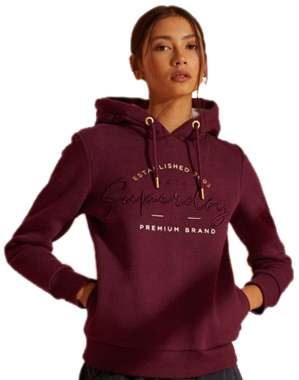 Superdry Established Hoodie Purple