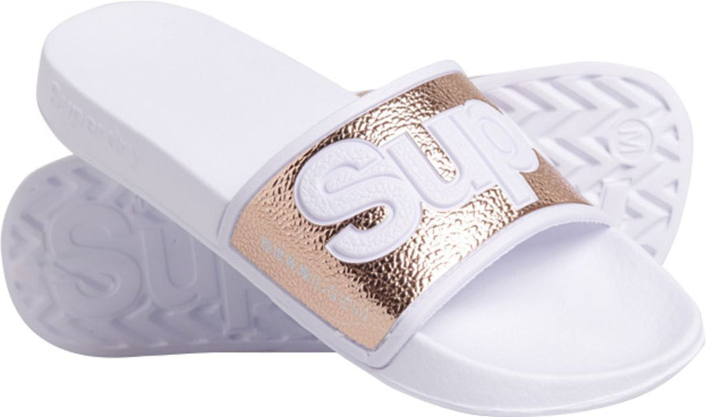 Superdry Eva 2.0 Pool Sliders White