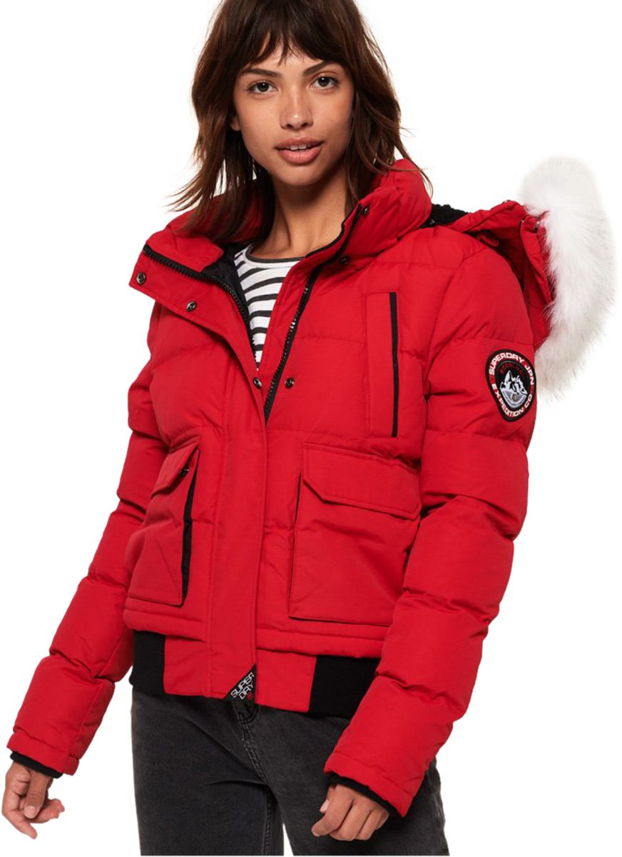 Superdry Everest Ella Bomber Jacket Chilli Pepper