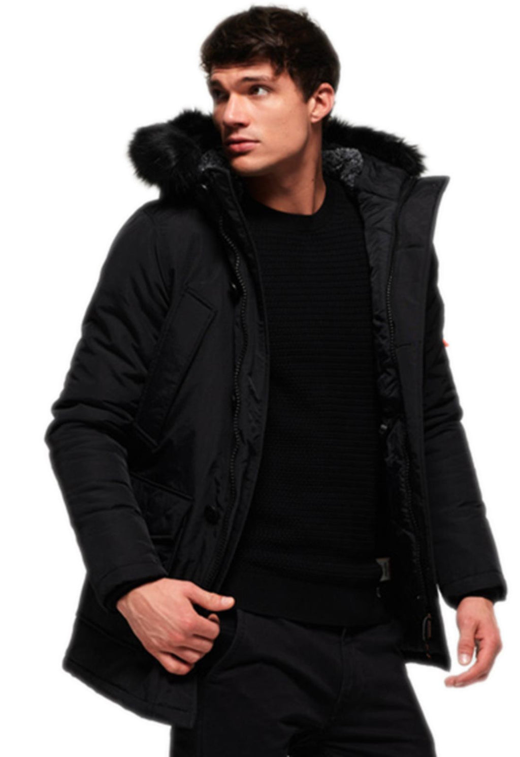 Superdry Everest Parka Jacket Black